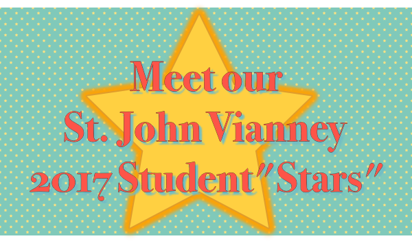 "As a way of recognizing the outstanding contributions from the student body, the Community selected six ""Stars"" at the close of the 2017 school year. They each wrote a short essay to share with you why they were chosen and what they like most about school."