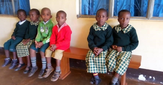 St. John Vianney students waiting for their monthly checkups